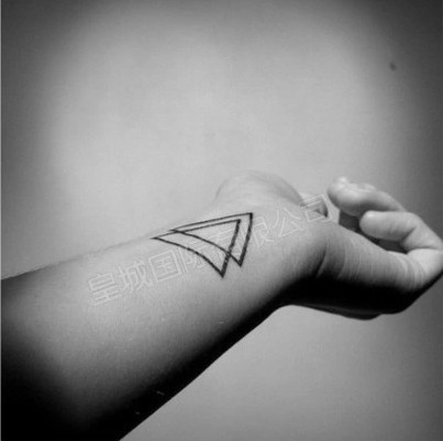 Double Triangle Tattoos On Wrist