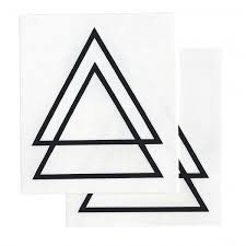 Double Triangle Tattoos Stencil