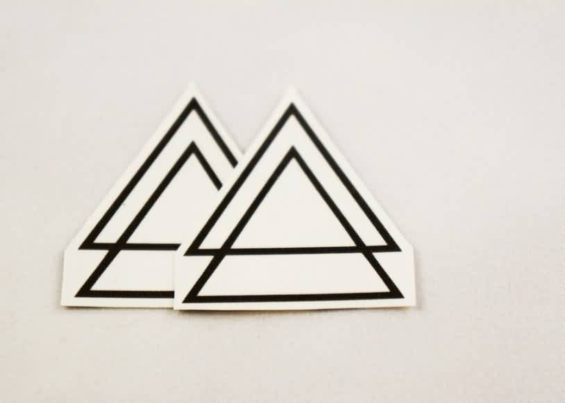 Double Triangle Tattoos Sticker