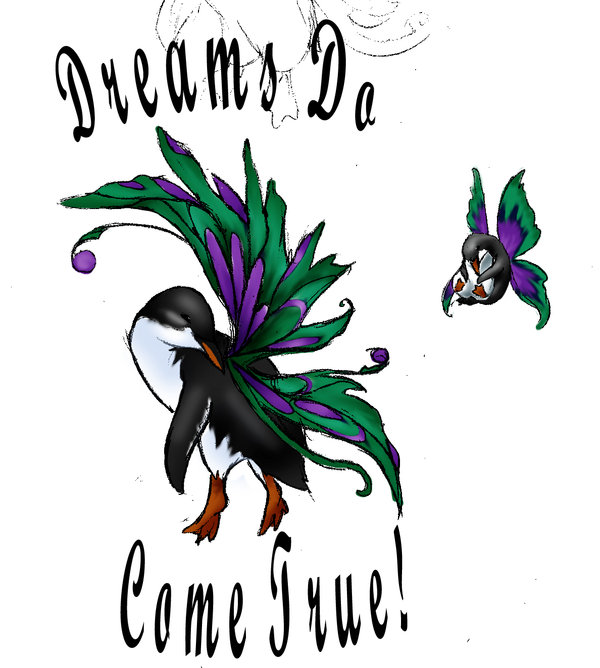 Dreams Do Come True Penguin Tattoo Designs
