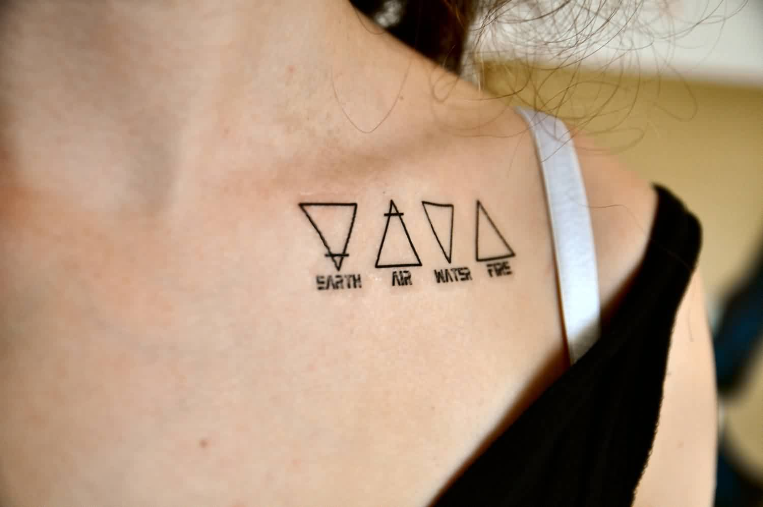Earth Air Water Fire - Triangle Tattoos