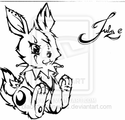 Easter Rabbit Tattoo Model