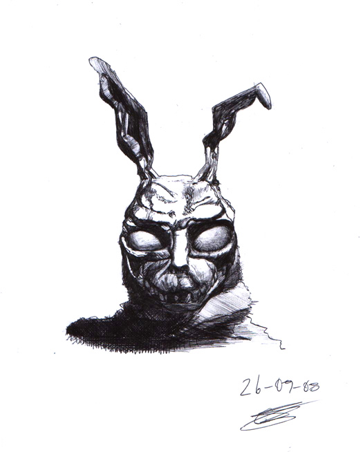 Evil Rabbit Tattoo Stencil