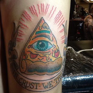 Eye Pizza Slice Tattoo
