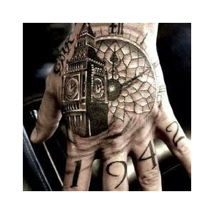 Fabulous Clock Tattoos On Hand