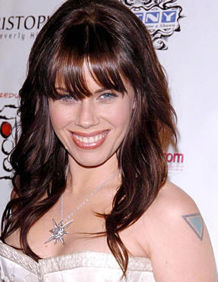 Fairuza Balk's Triangle Tattoo On Left Shoulder