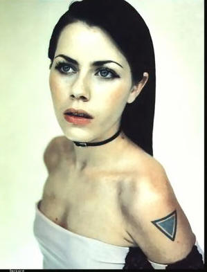 Fairuza Balk's Triangle Tattoo On Shoulder