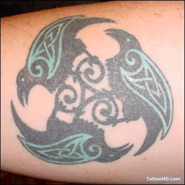 Fantastic Celtic Crow Tattoos
