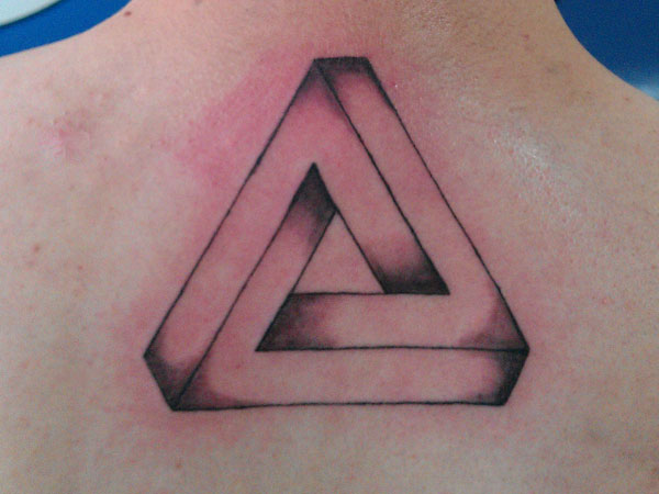 Fantastic Penrose Triangle Tattoo For Men