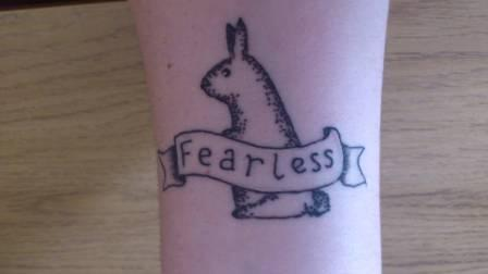 Fearless - Rabbit Tattoo