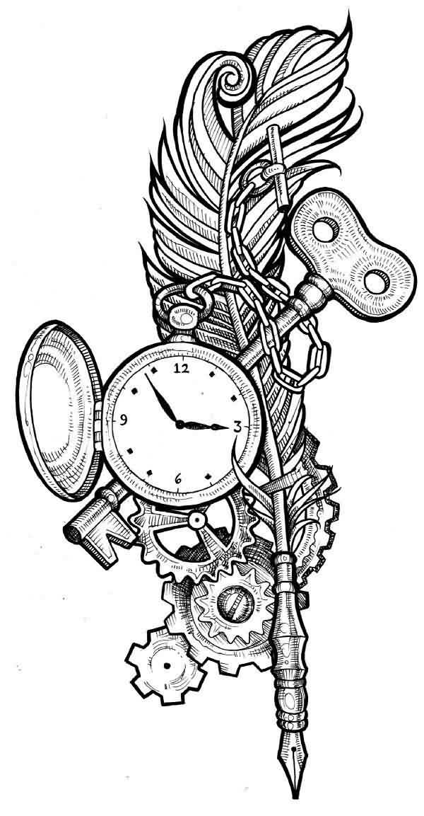 Clock Gear Tattoo Designs Tattoos And Ideas Page 14
