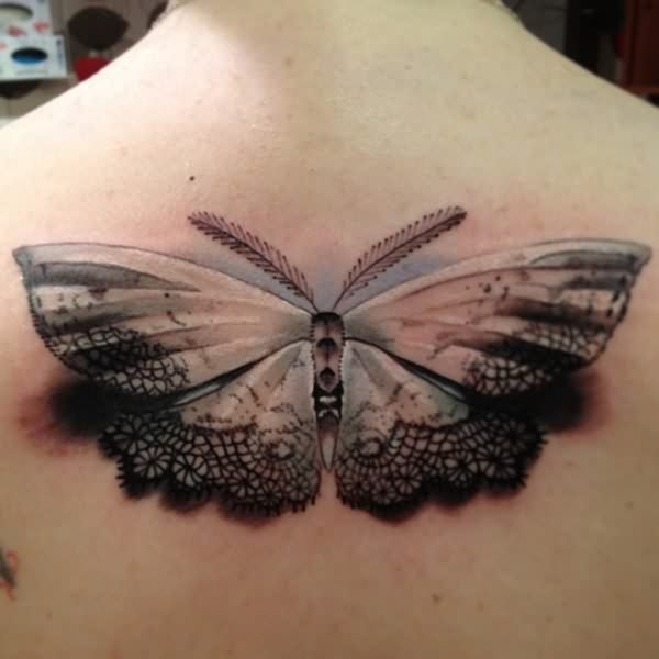 Feminine 3D Butterfly Tattoo Fashion For Girls