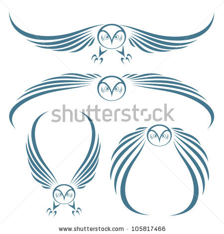 Flying Owls Tattoo Designs
