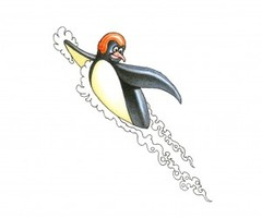 Flying Penguin Tattoo Design