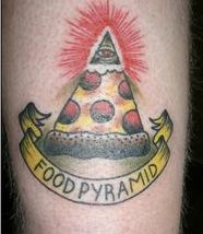 Food Pyramid - Pizza Tattoo