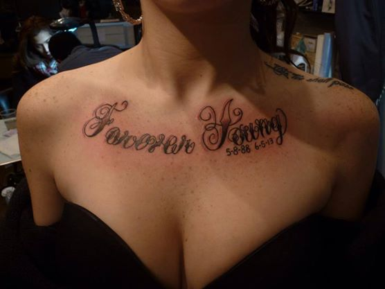 Forever Young Collarbone Tattoos