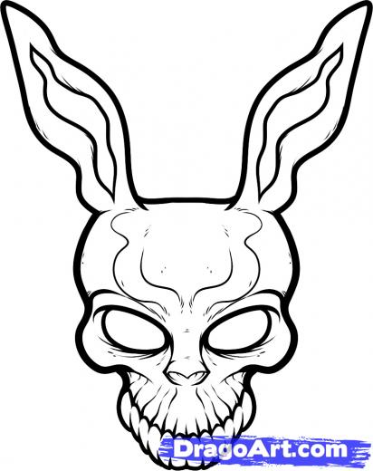 Frank The Rabbit Donnie Darko Tattoo Stencil