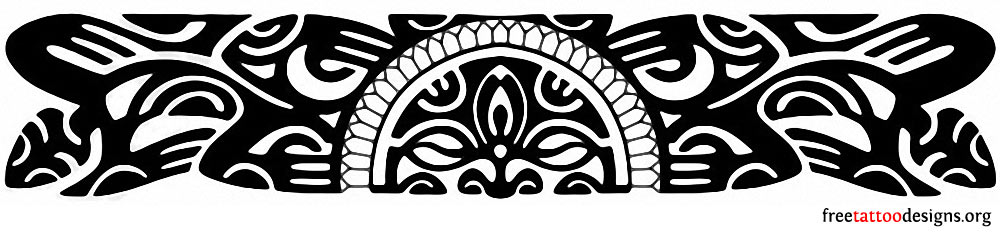 Free Black Polynesian Armband Tattoo Design