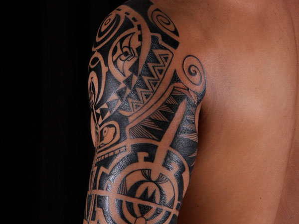 Mind Blowing Black Polynesian Tattoos On Sleeve