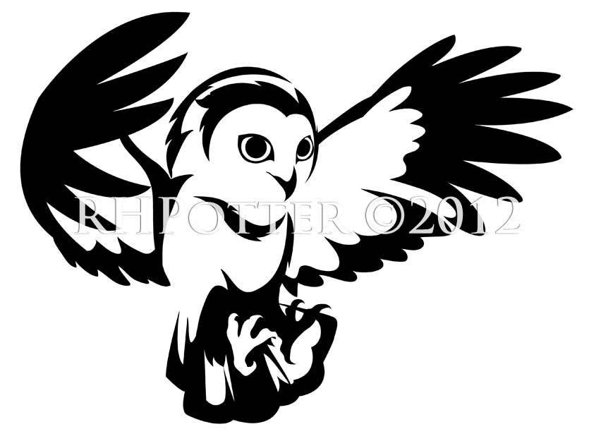 Fresh Flying Owl Tattoo Design