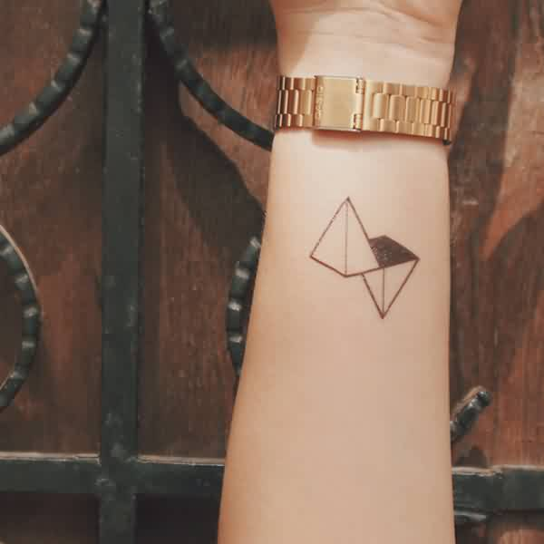 Fresh Ink Triangle Tattoos On Wrist