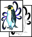 Fresh Penguin Tattoo Design