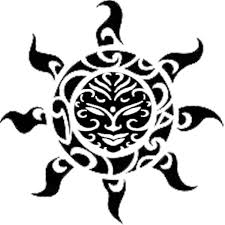 Fresh Polynesian Sun Tattoo Design