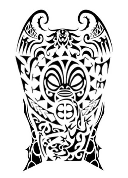 Fresh Samoan Polynesian Tattoo Design