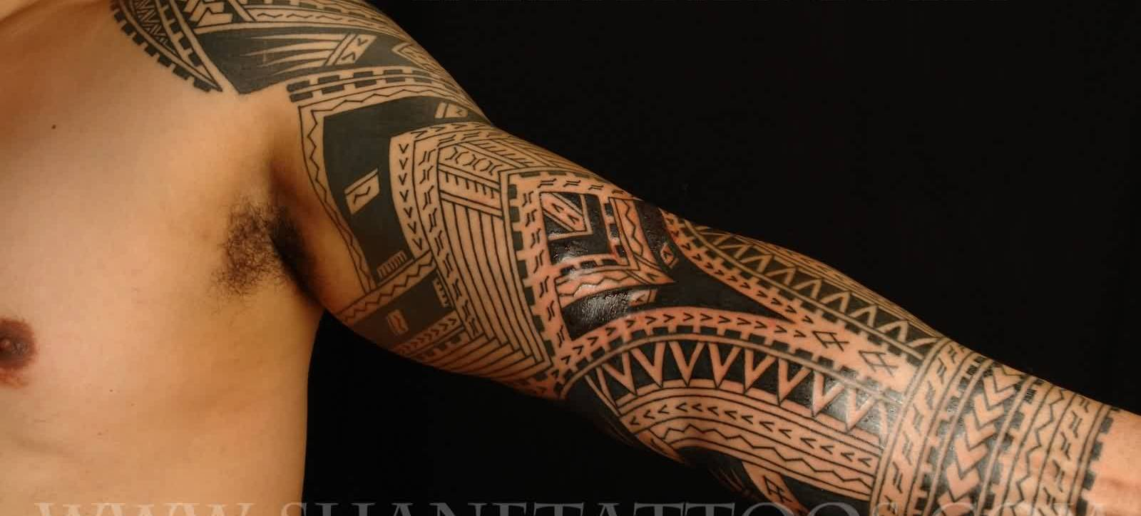 Fresh Triabl Polynesian Tattoo For Sleeve