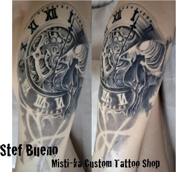 Gear Clock Death Tattoos