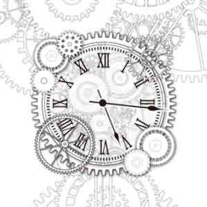 Gears Clock Tattoo Design