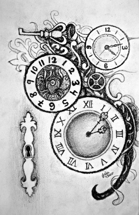 Gears Clock Tattoo Designs