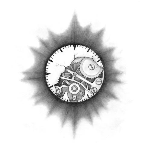 Gears Clock Tattoo Project