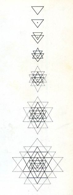 Geometric Triangle Tattoo Designs