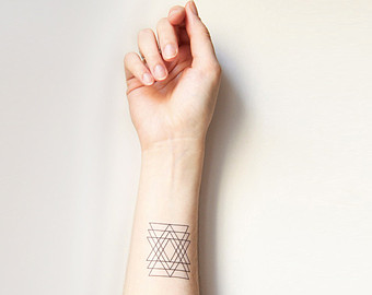 Geometric Triangle Tattoo Near Wrist