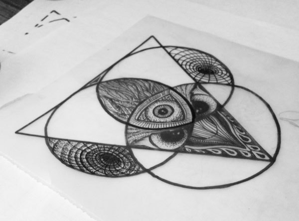 Geometric Triangles Tattoo Designs