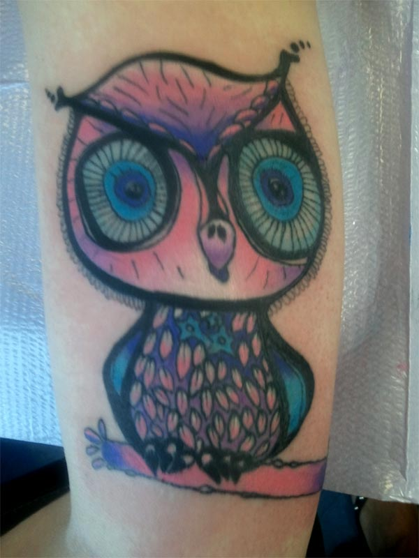 Girly Owl Tattoo