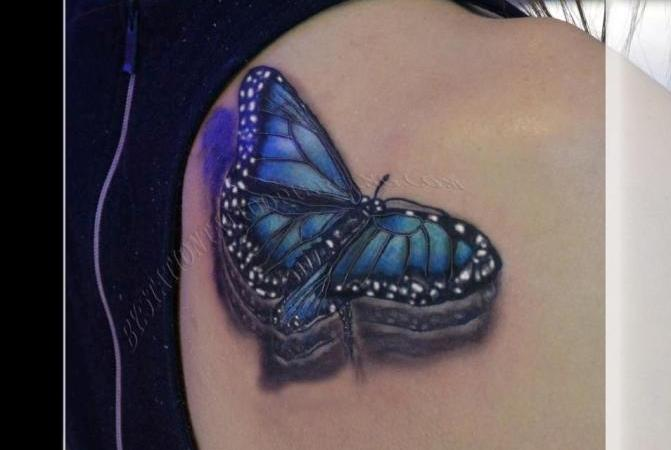 Glorious 3D Butterfly Tattoo Photo For Fans