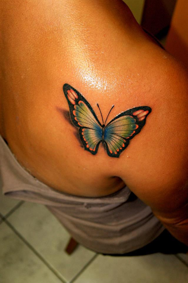 Glorious 3D Butterfly Tattoo Specially For Girls