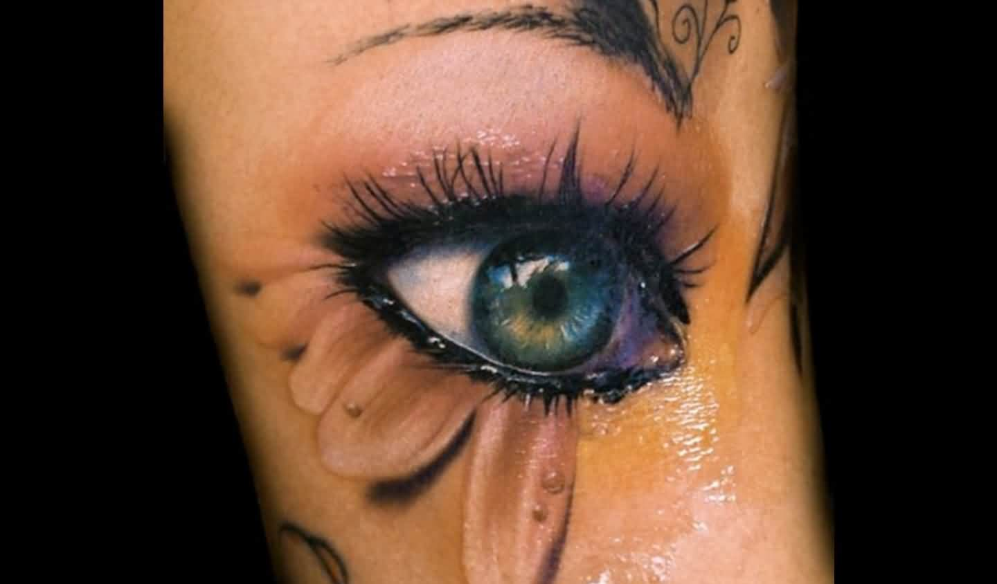Glowing 3D Eye Tattoo