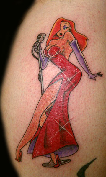 Gorgeous Jessica Rabbit Tattoo