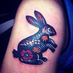 Gorgeous Rabbit Tattoo