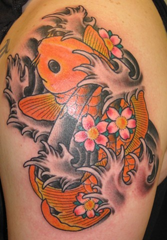 Gorgeous Waves And Fish Tattoos For Women