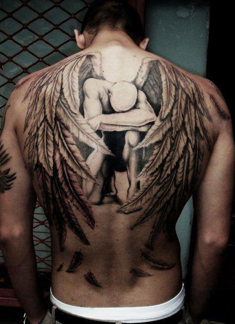 Great 3D Tattoo  On The Backbody