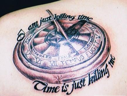 Great Clock Compass Tattoo