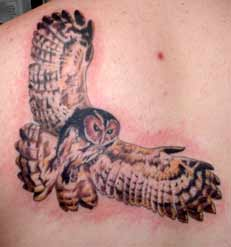 Great Flying Owl Tattoo