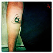 Great Penrose Triangle Tattoo On Forearm
