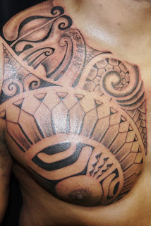 Great Samoan Polynesian Tattoos On Chest