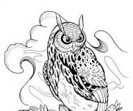 Grey Horned Owl Tattoo Design