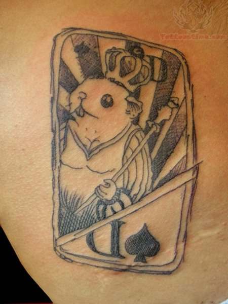 Grey Rabbit Poker Tattoo
